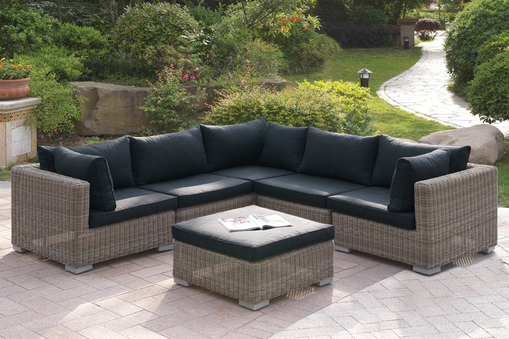 6 Pc Outdoor Patio Sofa Set