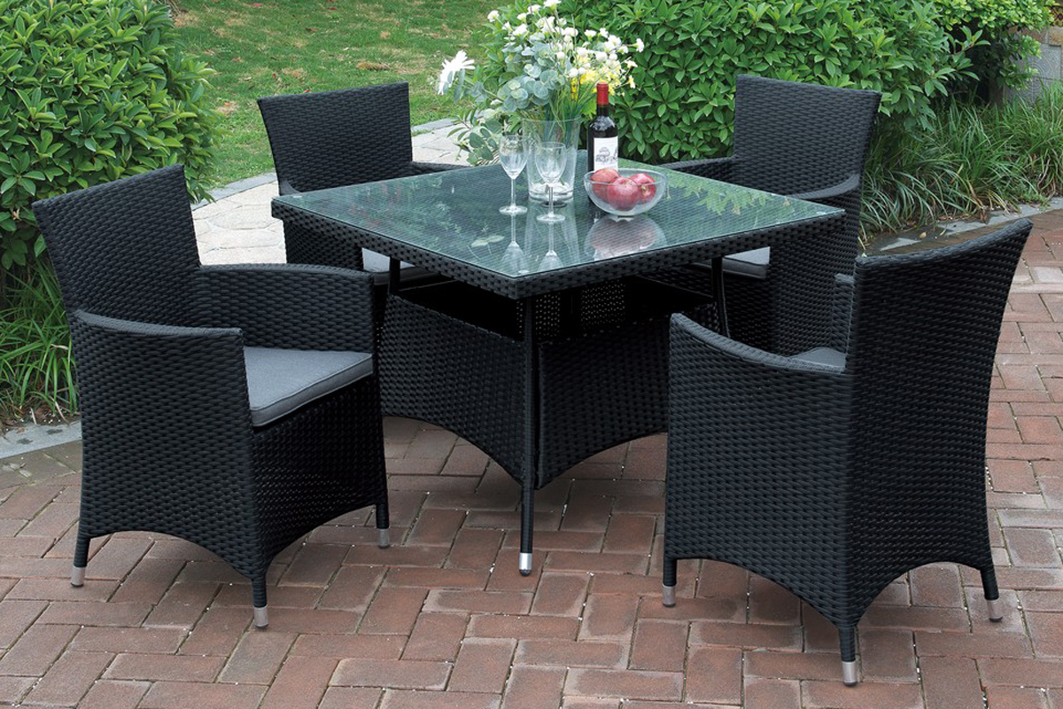 5Pc Outdoor Patio Table Set