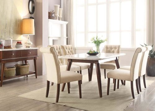 White Marble Top Dining Set — DecoDesign Furniture | Furniture Store ...