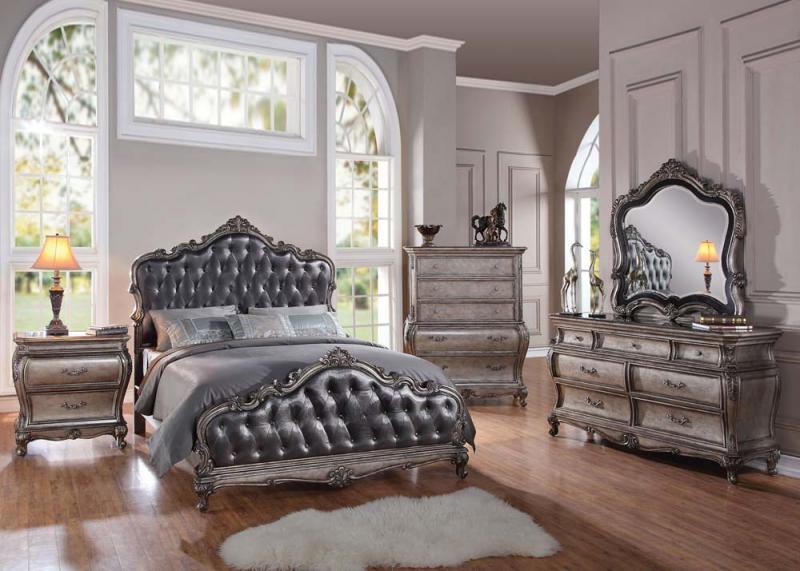Antique Platinum Bedroom Set