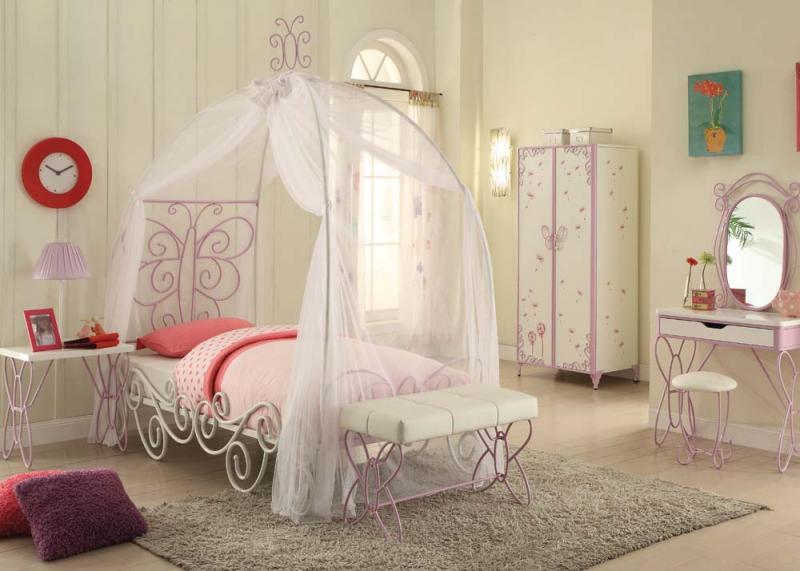 White & Light Purple Canopy Bedroom Set — DecoDesign Furniture   Furniture  Store   Miami Fl   Wholesale Prices