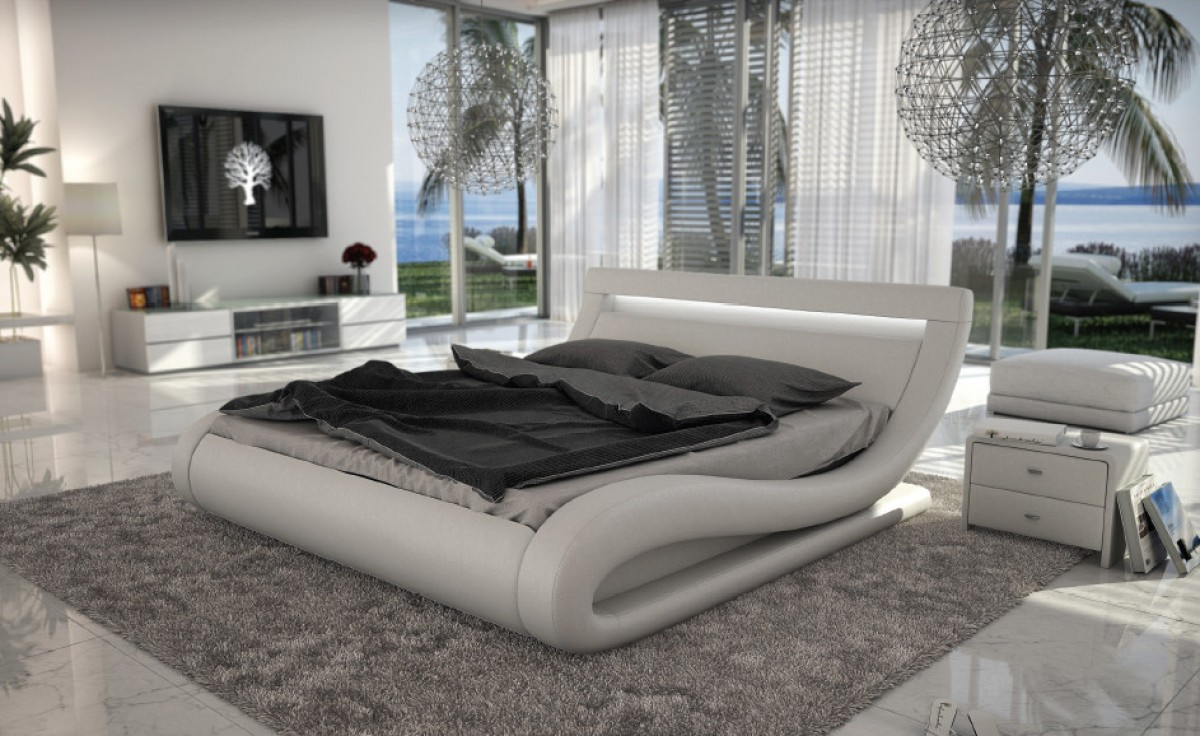 Italian White Bed With Led Lights Decodesign Furniture Furniture Store Miami Fl Wholesale Prices