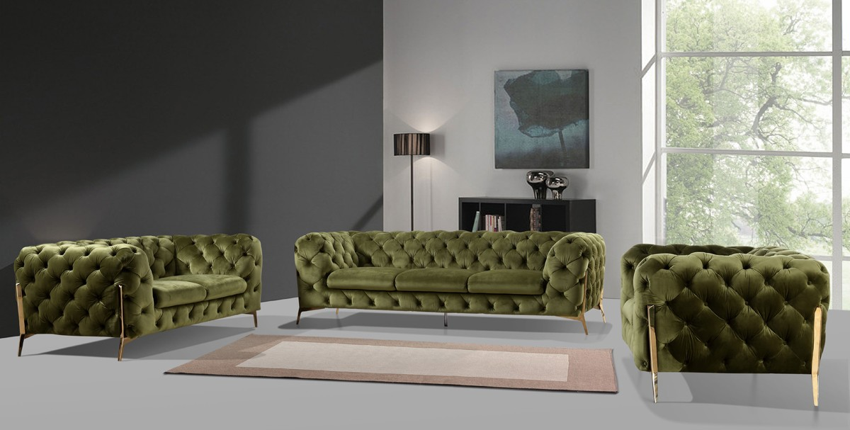 Modern Green Sofa Set — DecoDesign Furniture | Furniture Store | Miami Fl |  Wholesale Prices