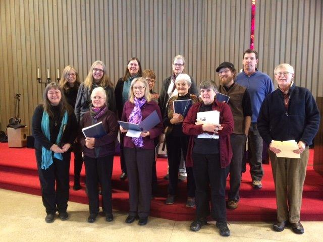 Our choir joining in an ecumenical day of singing