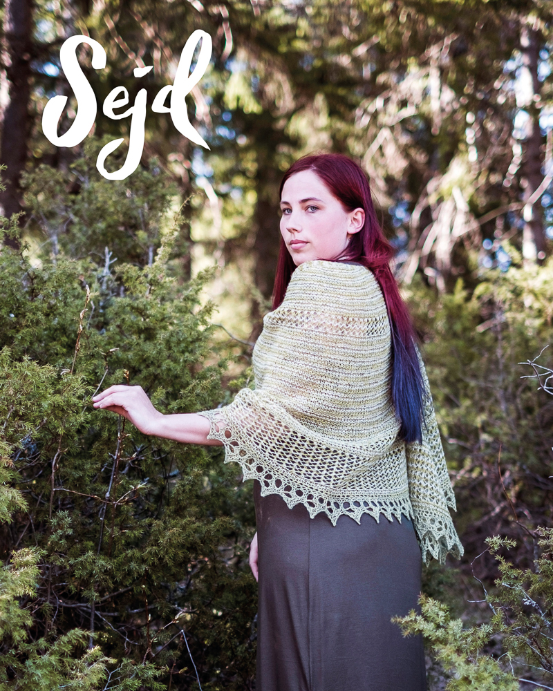 - Sejd or seidr - is the Norse sorcery performed by Vala - the female scryers.Sejd is connected to future telling, magic and transformation, and is performed to ensure fertility and the favour of the gods.YarnNew Zealandsk lammeuld by [G]uldNeedles5 mm and 5,5 mmMeasurements230 cm along the top edge65 cm deep at the neck