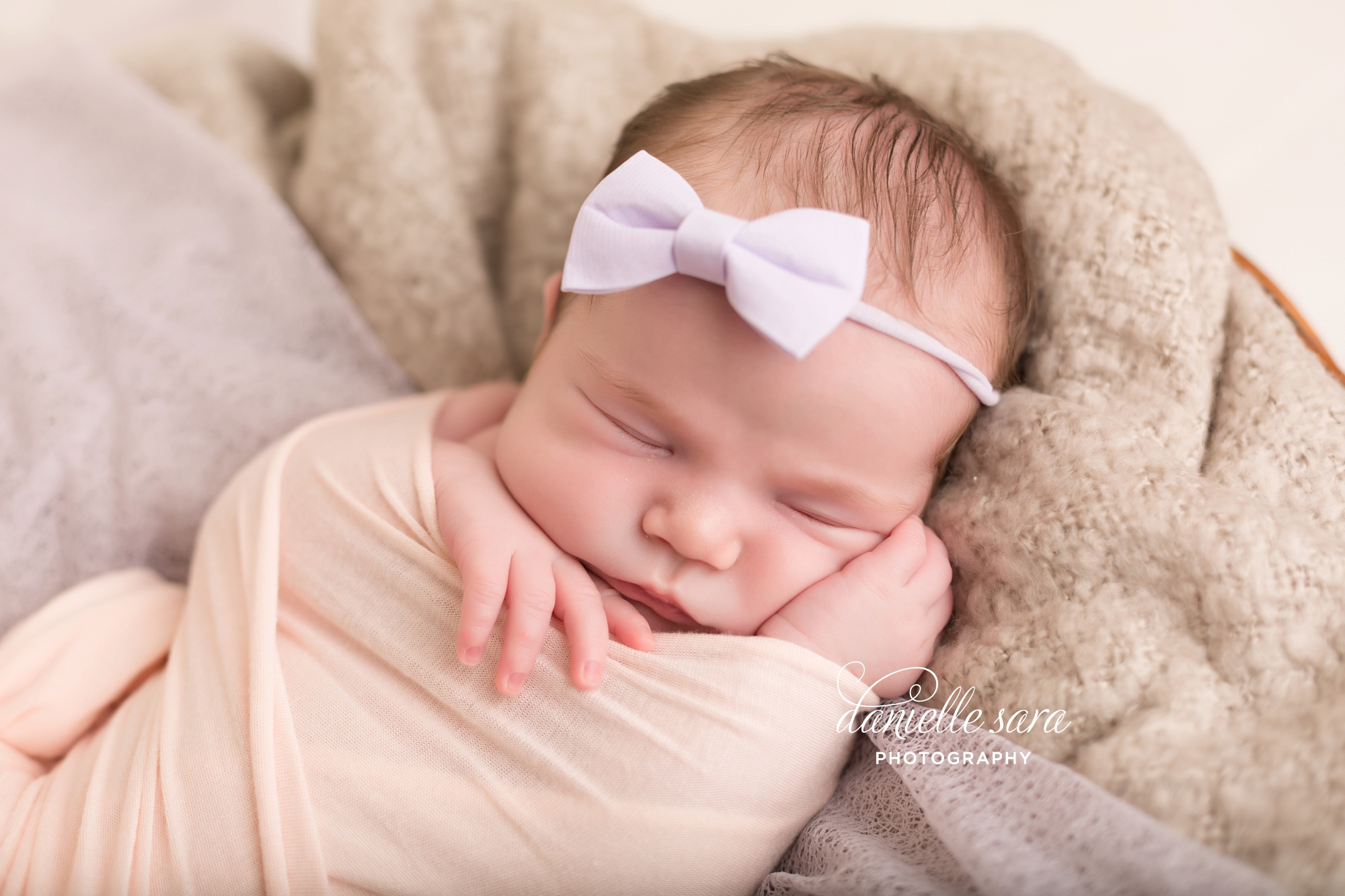 newborn portraits baby girl