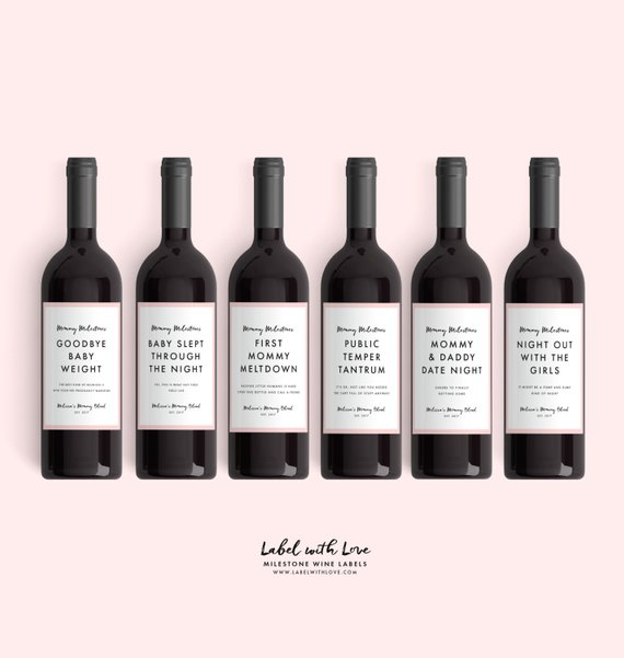 Mommy Milestone Wine Labels