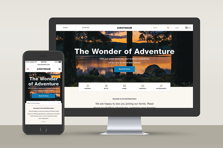 Airstream store - A new digital storefront that aims to take an editorial-first approach to product presentation. An eCommerce experience that is deeply rooted in editorial content.