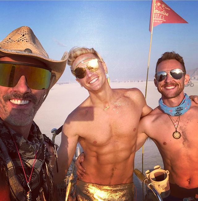 There were some really hard moments, but there were also some really great moments this year... hold on to the good stuff. That's the gold. . . . #paradisemotelbrc #burningman #staygold #chosenfamily #burner #queerburners