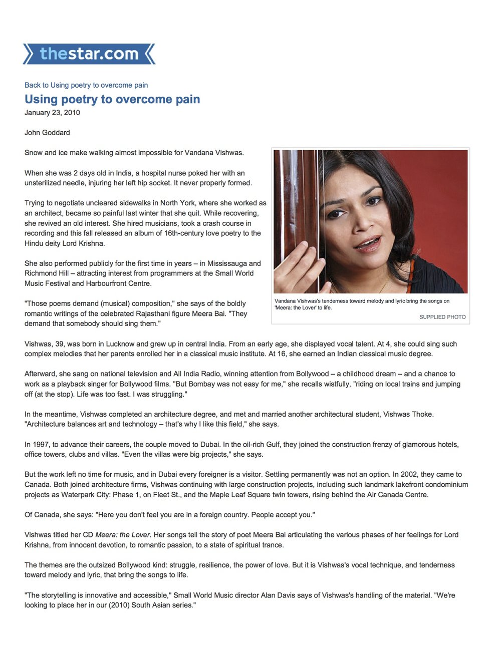Vandana Vishwas - The Toronto Star 23 Jan 2010 copy.jpg
