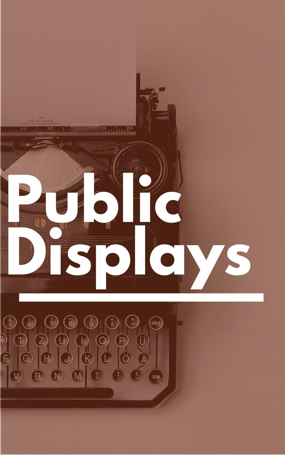 Public Displays - Glen Rock Public Library - NJ