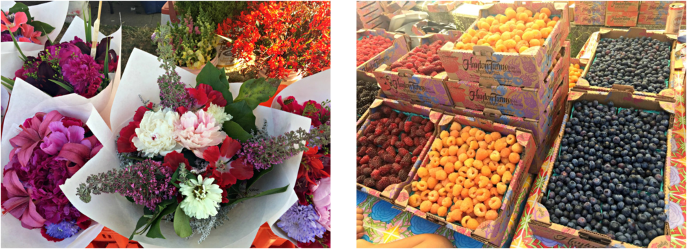 Flowers, as well as fruits and vegetables, are some of the treasures you can take home.