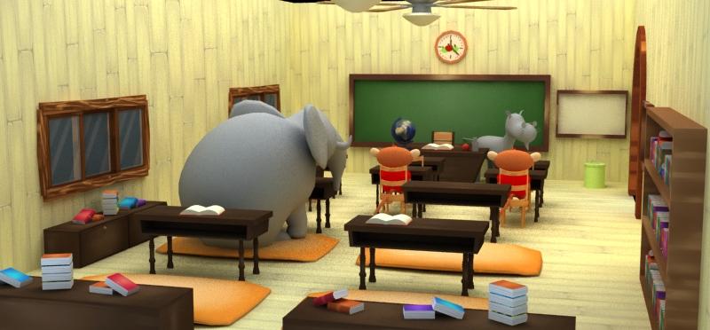 Esteban is having a hard time fitting into his Spanish Safari Classroom.