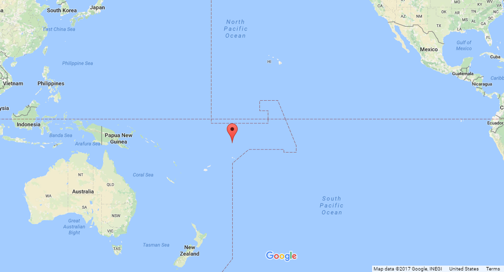 Position of Atafu Island, per Google Maps