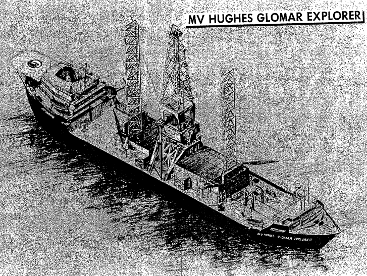 CIA documents declassified in 2010 show schematics for the MV Hughes Glomar Explorer (Credit: NSA Archive)