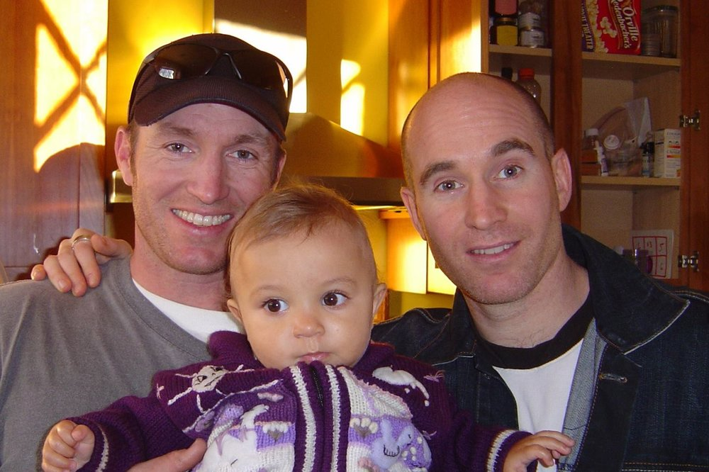 Glen Doherty, left, with brother Greg, right, and Greg's daughter Naomi in 2006. (Courtesy Doherty Family)