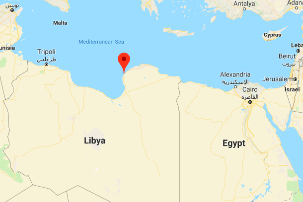 Location of Benghazi, Libya. (Credit: Google Maps)