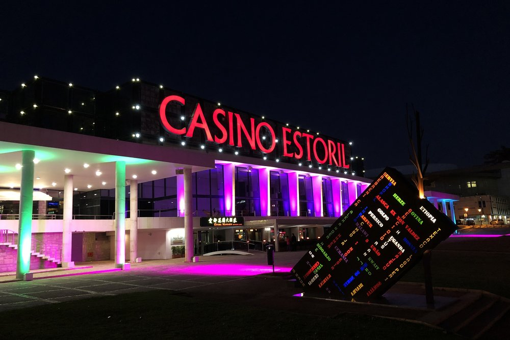 (Casino Estoril at night, Feb. 21, 2018. Photo credit: Lee Ferran)