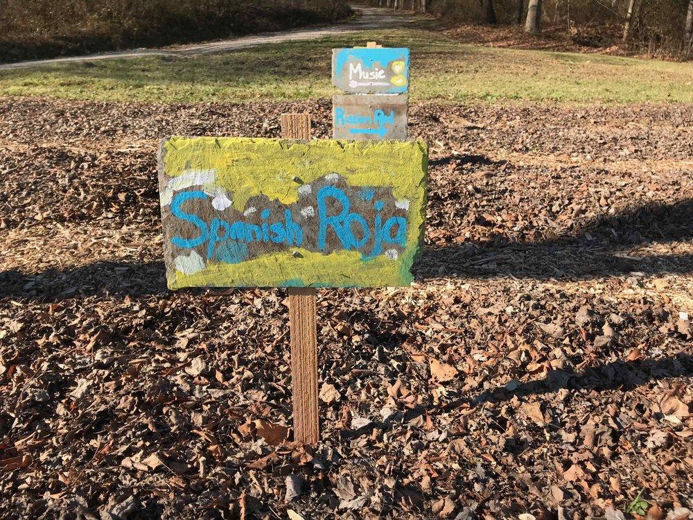 We put up signs to mark varieties