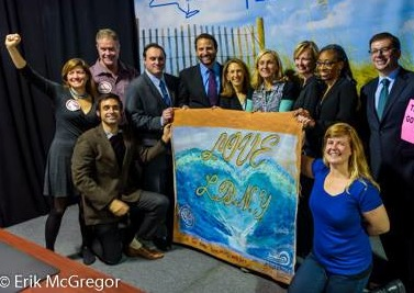 Advocates from Sane Energy Project and All Our Energy celebrated the announcement. -