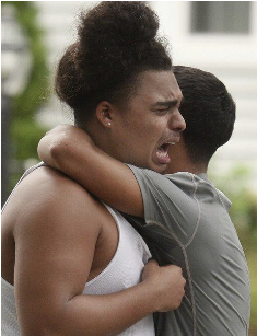 Friends mourn the death of Leonel Rondon, 18, who was killed in the MA gas explosion as he was beginning a family celebration for receiving his drivers license. Photo credit: Eagle-Tribune