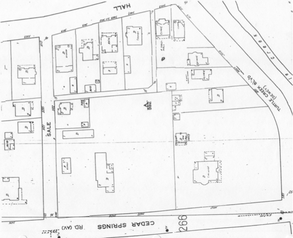 Previous Homes on the site, 1965