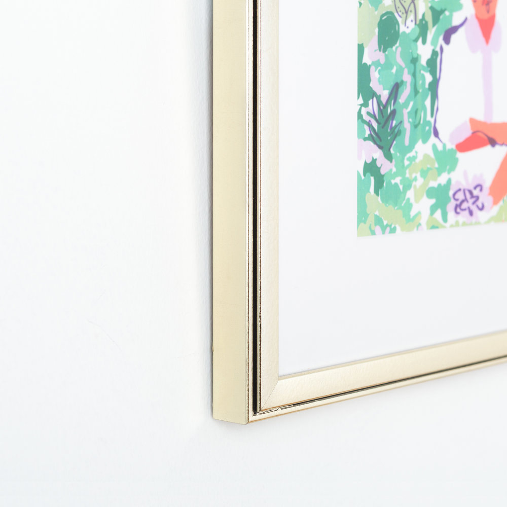Monroe // Champagne Metallic Frame