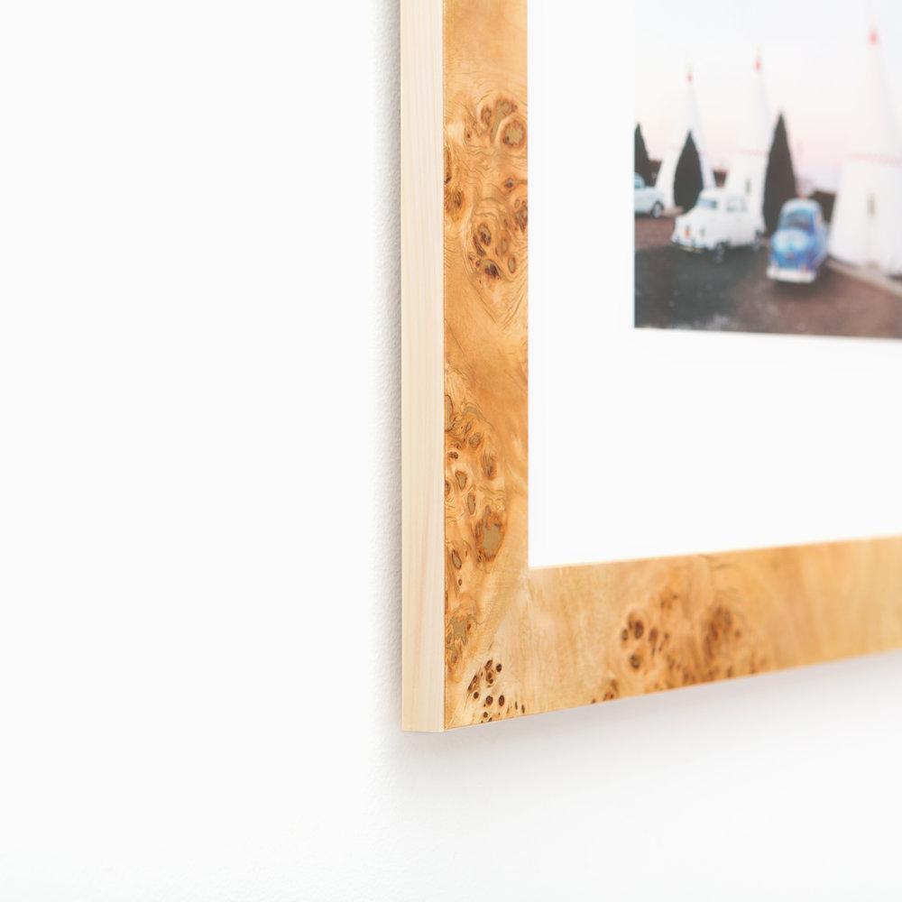 Cairo // Burl Wood Frame