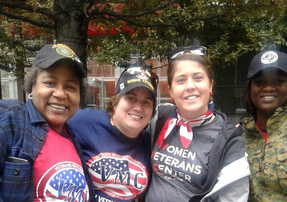Members of the Women Veterans Center attend the most recent Veterans Day parade in Philadelphia.