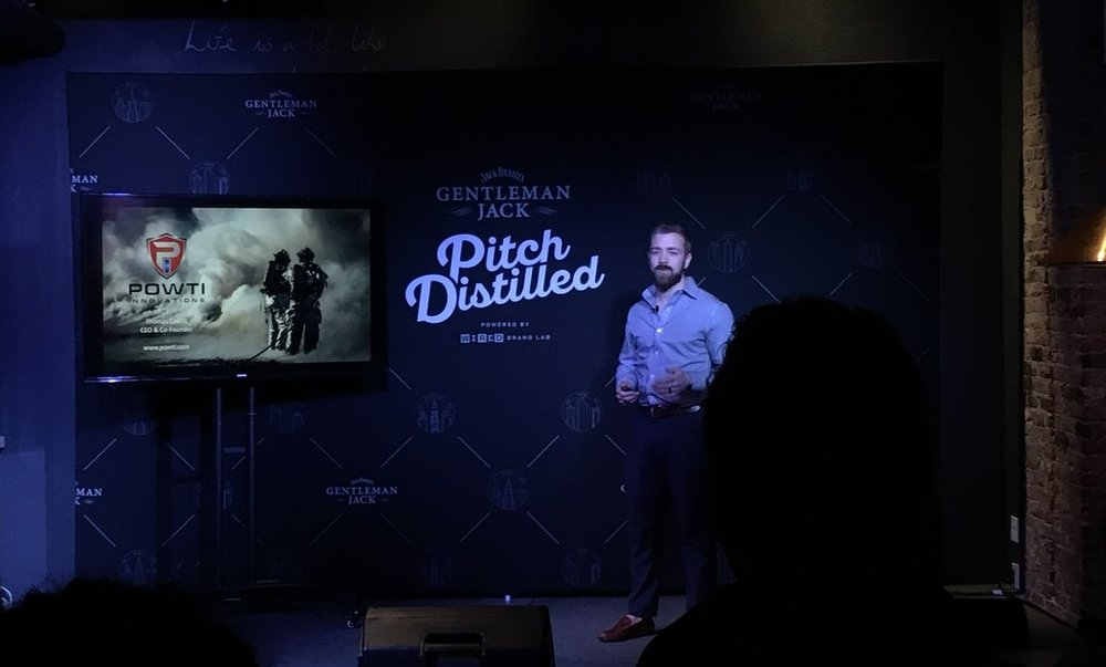 Thomas Cavett presenting at the Gentleman Jack Pitch Distilled event earlier this year.
