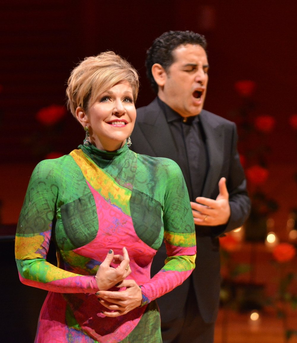 Joyce DiDonato and Juan Diego Flórez sang a breathtaking duo recital in celebration of the Series' 50th Anniversary.  Photo credit: Don Ipock