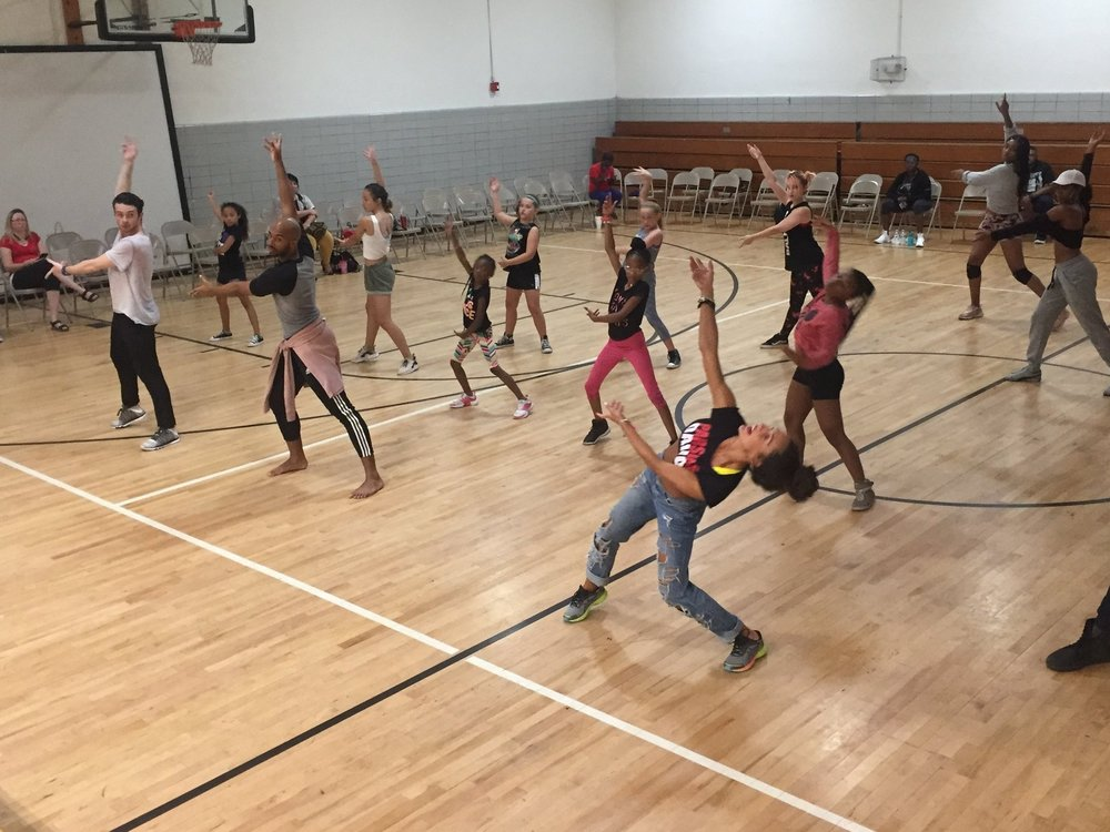 Parsons Dance led students in a hip-hop workshop at Mary L. Kelly Community Center, KC MO