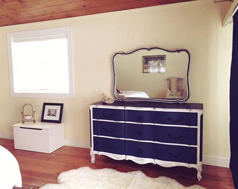 Custom painted dresser by Craig.