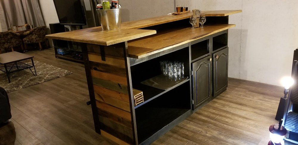 Rustic bar designed and built by Craig! Stunning!