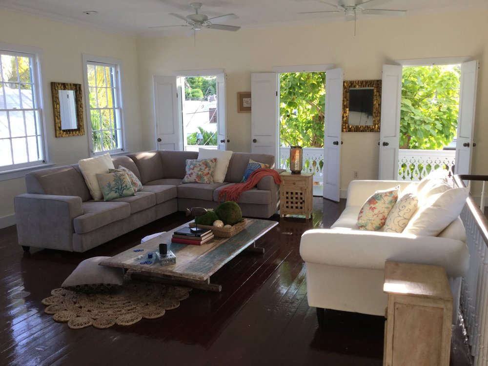 Historic home in Old Town Key West Designed and styled by Nicolette. Interior paint by Craig. This is the kind of place you never want to leave!