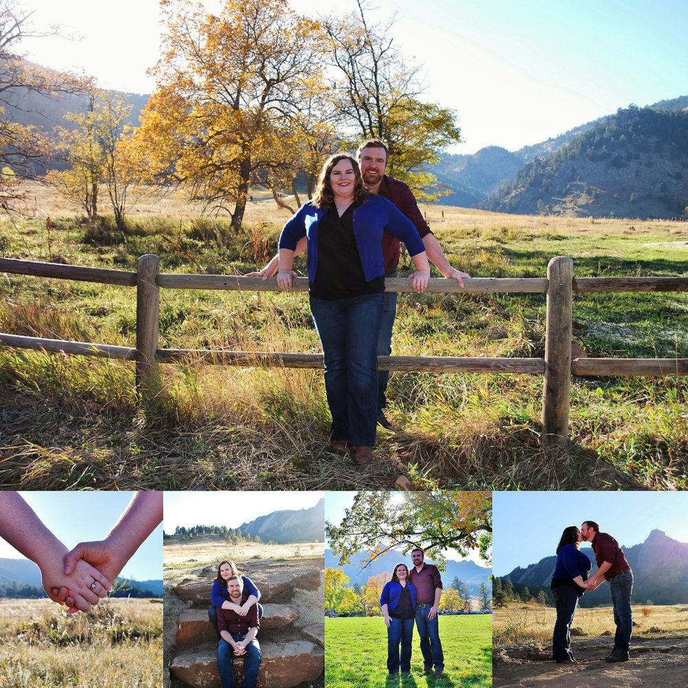 Steph and Matt's Engagement Photos - I was happy to have the opportunity to photograph Steph and Matt's engagement photos on a wonderful Colorado weather day.-October 15, 2017: Chautauqua Park in Boulder, CO