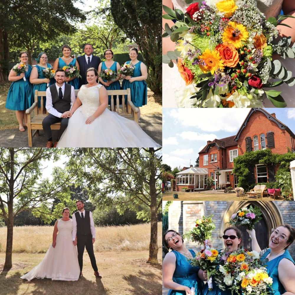 """Steph & Matt's English Wedding - It was a hot day in London, """"unseasonably warm"""", they said.  But, it was a beautiful wedding day in Reading, London, for Steph and Matt's special day.--July 7, 2018: White Knights Road, Reading, England"""