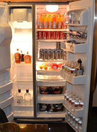 A nicely stocked fridge at Elara