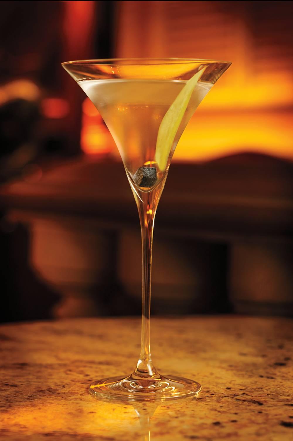Petrossian Bar Martini with Caviar Cube