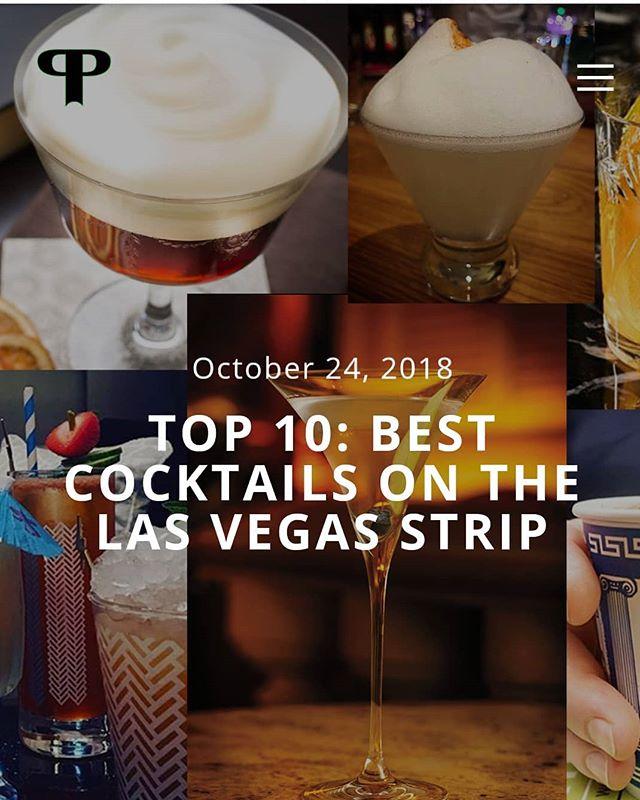 New feature! Top 10 best cocktails on the Las Vegas strip, link in bio . . . . #lasvegas #lasvegasstrip #cocktails #cocktail #vegas #vegasnightlife #bar