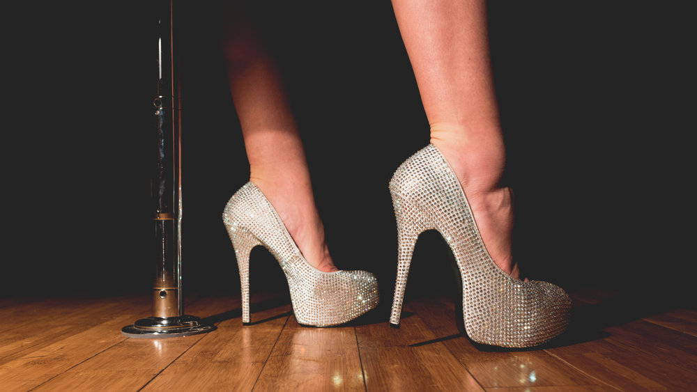 Stripper Shoes with Pole