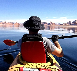 Kayak tour of Antelope Canyon