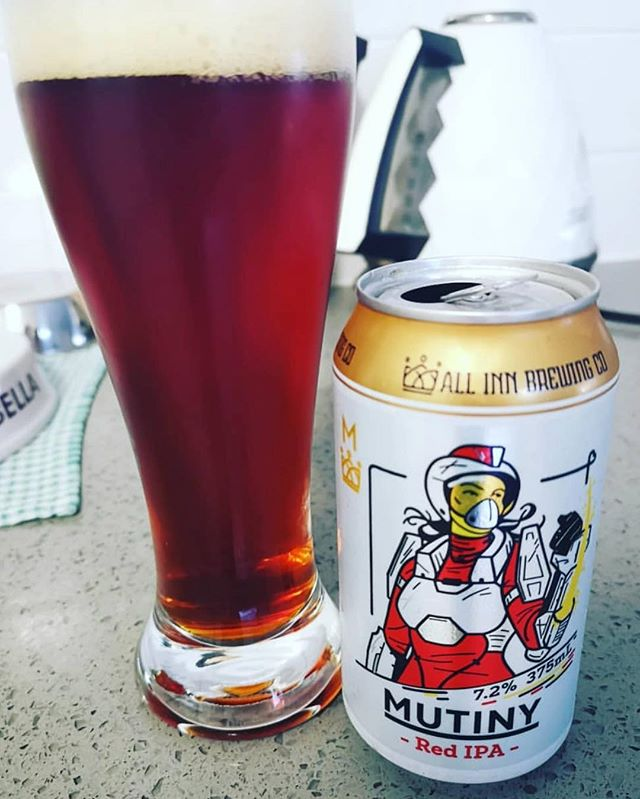Sunday Mutiny! 🍺 Big Red IPA @allinnbrewingco enjoyed by @kradcliffe94 fellow beer buster 👍🏼 Are you an enthusiast like us? Try this brewery on The City Run Tour - tasting five of Brisbane's best spots! • Book now!