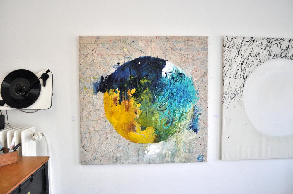 ZeitgenießischeGalerieHeidelberg_ArtGallery_Abstractexpressionsit_OliveGreenAnna4