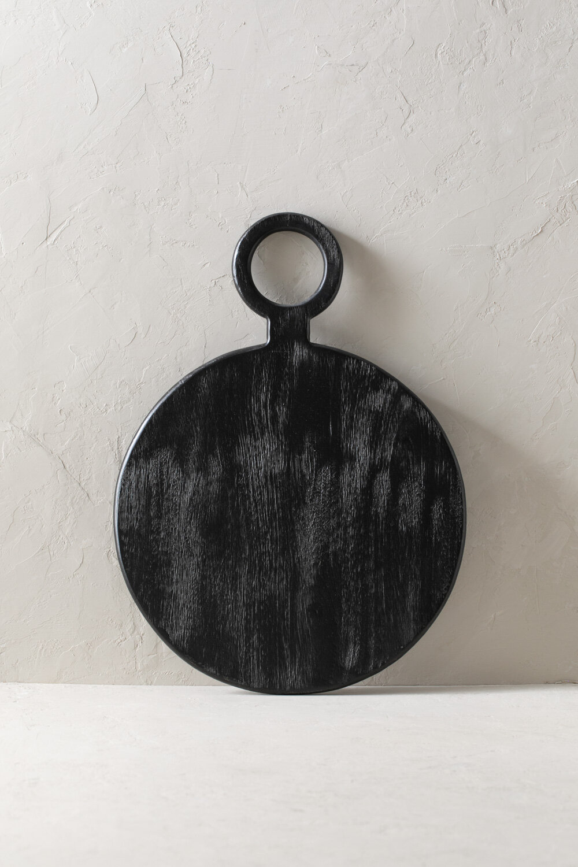 Black Mango Wood Board Artisan Serving Tray Hoppe Shoppe