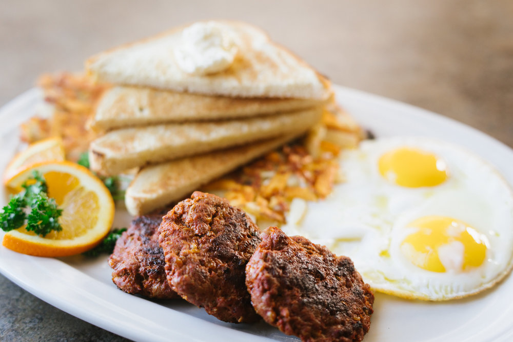 Hot Italian Sausage & Eggs