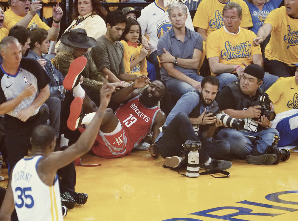 This one photograph essentially sums up the performance for the Houston Rockets in Game Three of the Western Conference Finals.