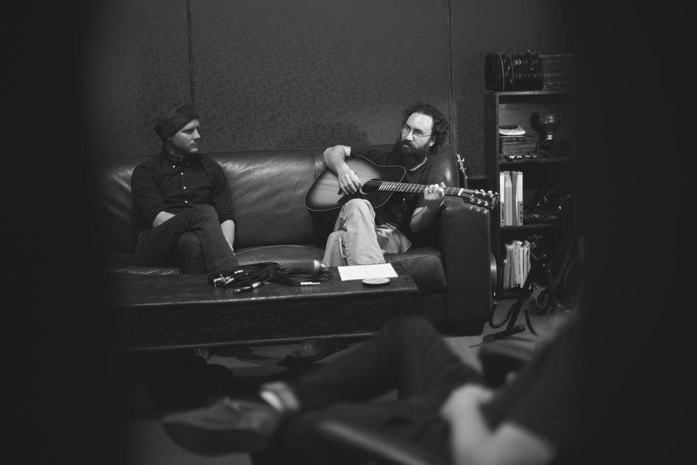 Britton Beisenherz at Ramble Creek Recording Studio.Austin, TX.By Tommy Escobar