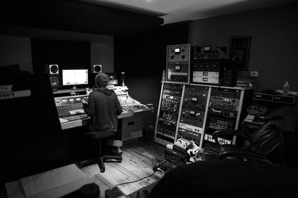 Alex Bhore at Elmwood Recording.Dallas, TX.By Kelsey Wilson