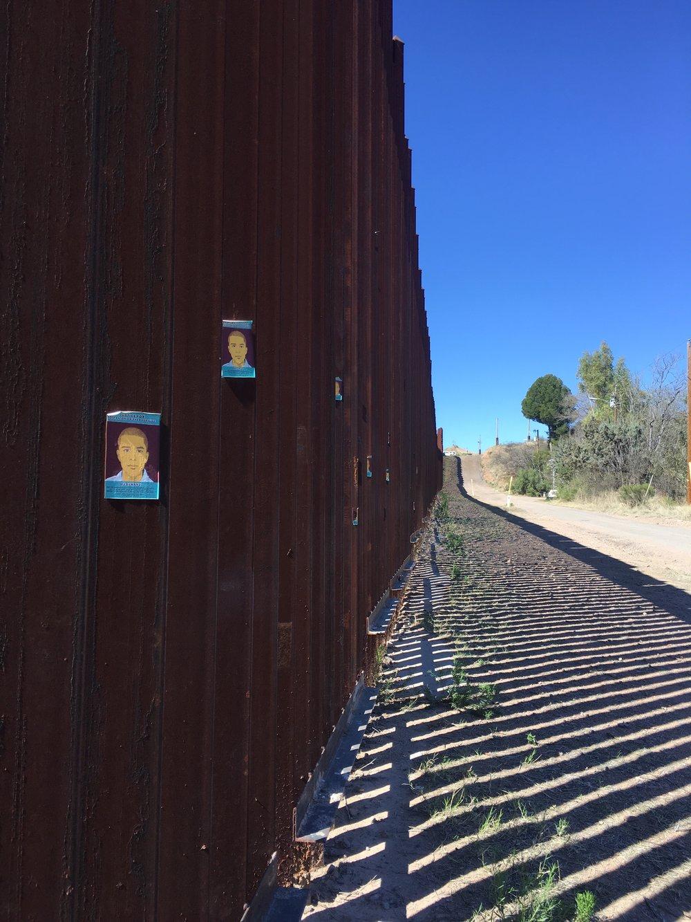 Border wall in Nogales, Arizona